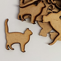 MDF Cat C 3cm - 40 x Laser cut wooden shape