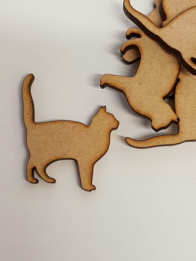 MDF Cat C 4cm - 25 x Laser cut wooden shape