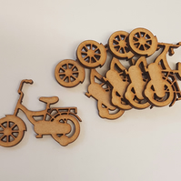 MDF Childs Bike 5cm - 5 x Laser cut wooden shape