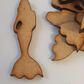 MDF Mermaid 4cm - 25 x Laser cut wooden shape