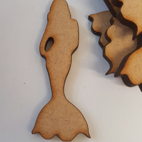 MDF Mermaid 5cm - 15 x Laser cut wooden shape