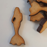 MDF Mermaid 3cm- 40 x Laser cut wooden shape
