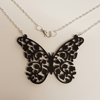 Detailed Butterfly Necklace - Acrylic