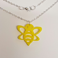 Bumble Bee Necklace - Acrylic