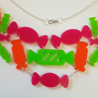 Candy Shop Statement Necklace - Acrylic