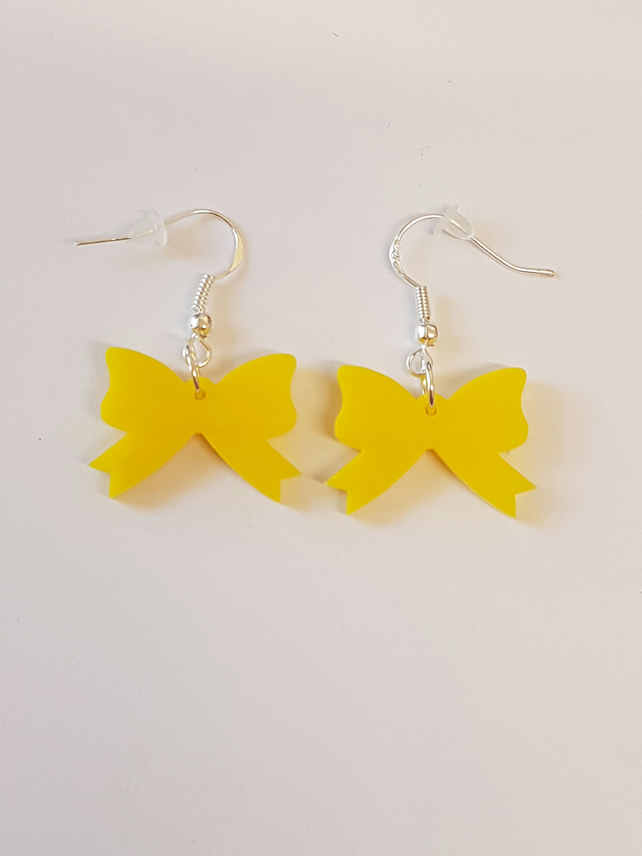 Bow Earrings - Acrylic