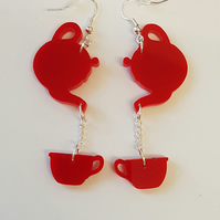 Time for Tea Earrings - Acrylic