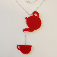 Time for Tea Necklace - Acrylic