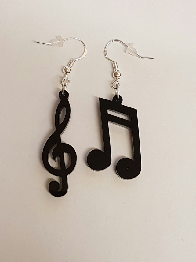 Musical Notes Earrings - Acrylic