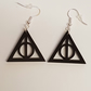 Deathly Hollows Earrings - Acrylic