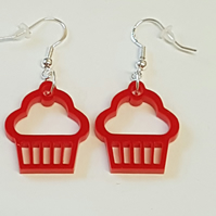 Cupcake Earrings - Acrylic