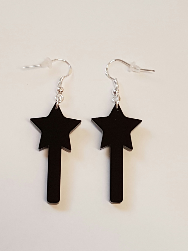 Magic Wand Earrings - Acrylic