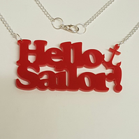 Hello Sailor Anchor Necklace - Acrylic