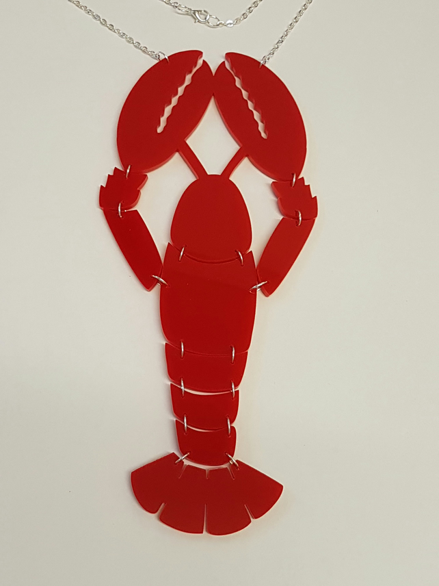 Statement Lobster Necklace Extra Large - Acrylic