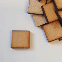 MDF Square 1.5cm - 100 x Laser cut wooden shape