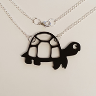 Tortoise Turtle Necklace - Acrylic