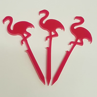 Flamingo Cupcake Toppers x 3