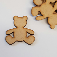 MDF Teddy Bear 4cm - 25 x Laser cut wooden shape