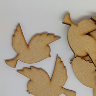 MDF Bird Pair A 5cm- Laser cut wooden shape