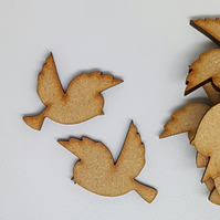 MDF Bird Pair A 3cm- 30 x Laser cut wooden shape (15 pairs)