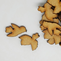 MDF Bird Pair B 2cm - 30 x Laser cut wooden shape (15 pairs)