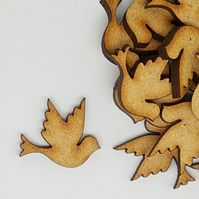 MDF Dove Bird 2cm - 50 x Laser cut wooden shape