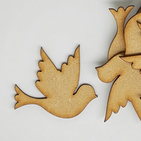 MDF Dove Bird 4cm - 10 x Laser cut wooden shape
