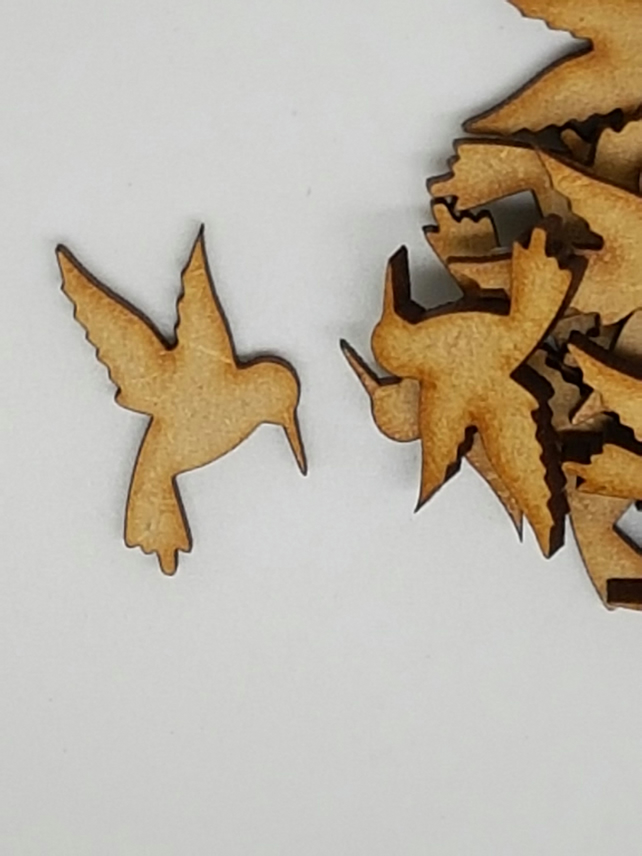 MDF Hummingbird 3cm - 50 x Laser cut wooden shape