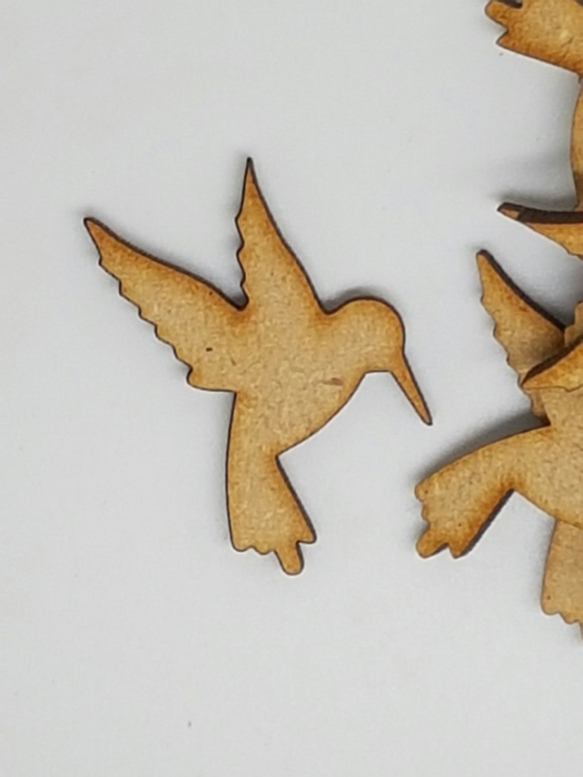 MDF Hummingbird 4cm - 25 x Laser cut wooden shape