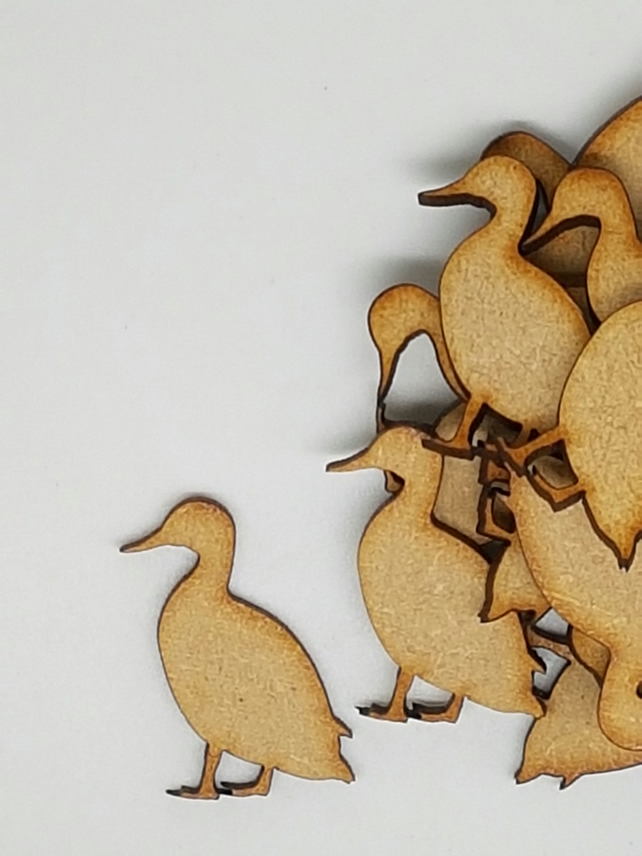 MDF Farmyard Duck 3cm - 50 x Laser cut wooden shape