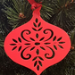 Acrylic Christmas Xmas Bauble Flower Pattern A - Red