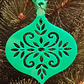 Acrylic Christmas Xmas Bauble Flower Pattern A - Green
