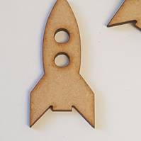 MDF Space Rocket Ship 5cm - 15 x Laser cut wooden shape
