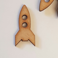 MDF Space Rocket Ship 3cm - 25 x Laser cut wooden shape
