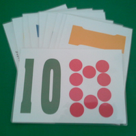 Pages to help with numbers for pre-school children using dots or dominoes