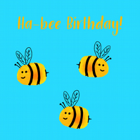 Ha-Bee Birthday - Greetings card