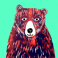 Bear - Greetings card