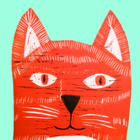 Ginger Tom - Greetings card