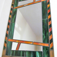Handmade Stained Glass mirror