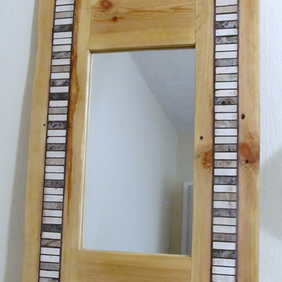 Handmade timber mirror