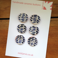 Fat Herringbone buttons