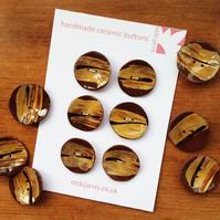 Honey Brush buttons - pack of 6