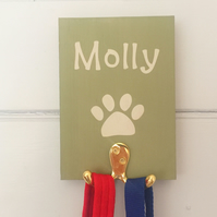 Dog Lead Holder - Personalised - Vintage Twist - Colour Options - Gift Wrapped
