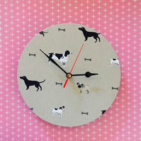 Fabric Dog Wall Clock - Sophie Allport Woof