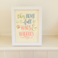 Dog Quote Framed Picture - Wags and Wiggles