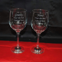 Personalised Engraved Wine Glass & gift box