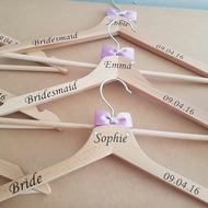 Bespoke Wedding Hangers x6