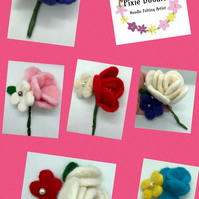 Needle Felted Rose Corsage