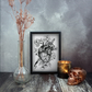 Bleeding Heart Print, Gothic Home Decor, Anatomical Heart, A5 Art Print