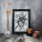 Bleeding Heart Print, Gothic Home Decor, Anatomical Heart, A4 Art Print